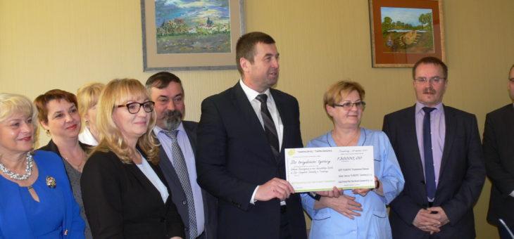 Przekazanie darowizny Społecznemu Stowarzyszeniu na Rzecz Szpitala Wojewódzkiego w Tarnobrzegu